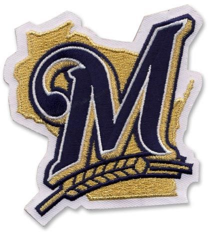 a18d1a8d7eb Milwaukee Brewers M MLB Baseball Team Logo Patch