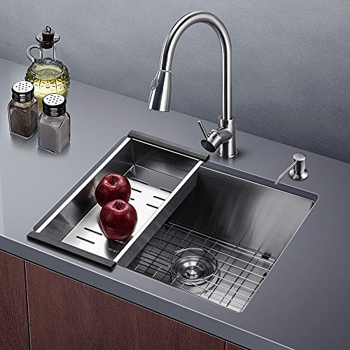 Harrahs 23 Inch Kitchen Sink 23x18 3x10 Inch 11 Gauge Lip Https Stainless Steel Kitchen Sink Stainless Steel Kitchen Sink Undermount Stainless Steel Faucets