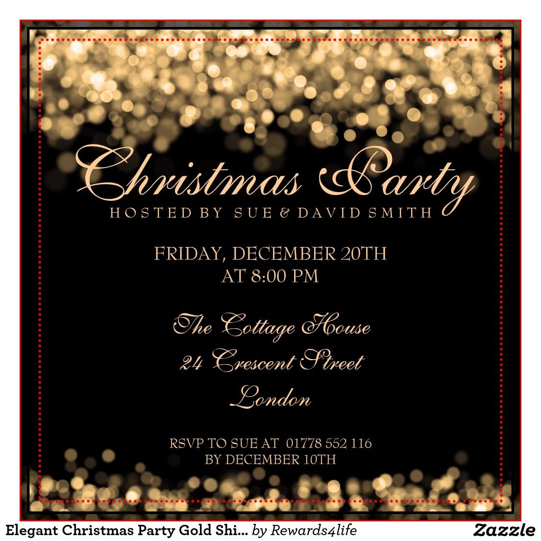 elegant christmas party invitations - Google Search  Elegant