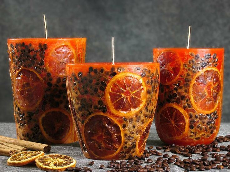 Citrus Fruit Candles Candle Decor Aromatic Candles