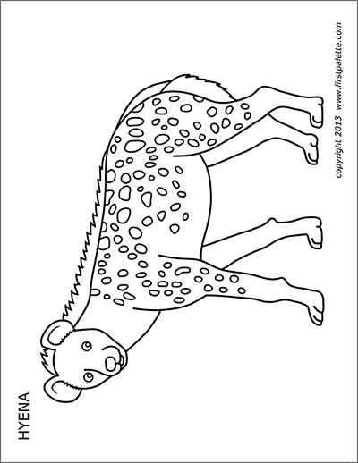Printable Hyena   Animal printables, Coloring pages, Art kit
