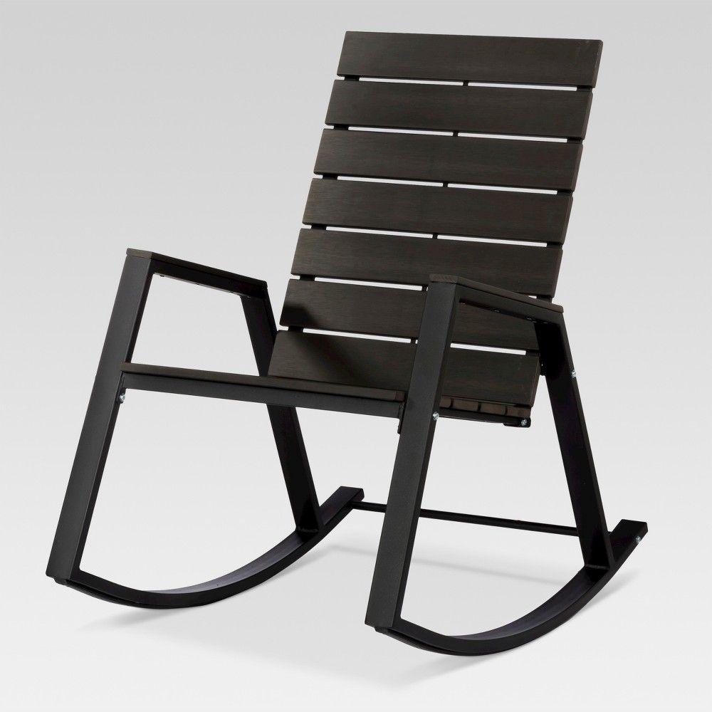 Bryant Faux Wood Patio Rocking Chair Black Project 62 In 2019