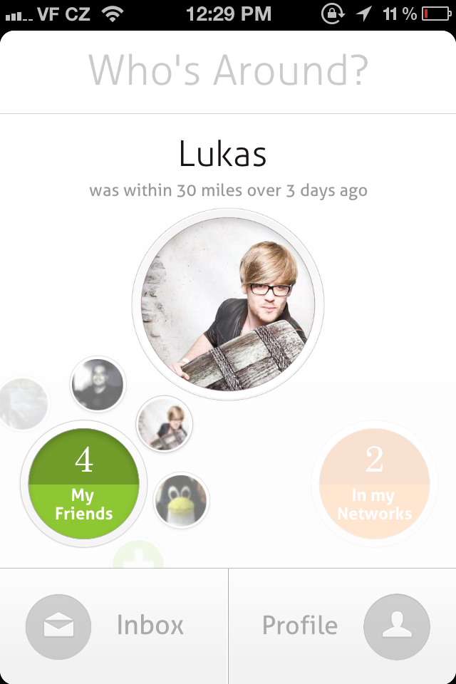 Circle Who's Around You Mobile design patterns, App