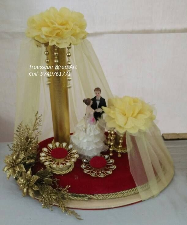 Engagement Ring Platter Both Bride And Groom