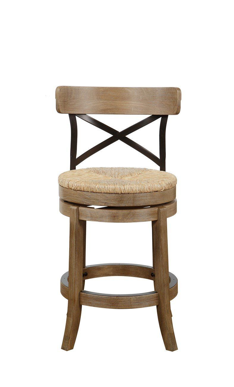 Boraam Myrtle Counter Stool, Wire Brush, 24\