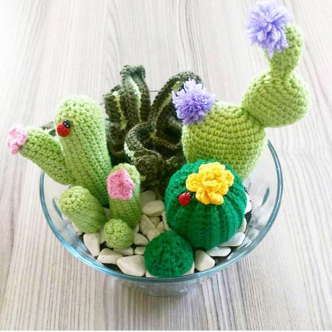 Cactus amigurumi free chart   CROCHET CAKTUS PLANT   Pinterest   Flores