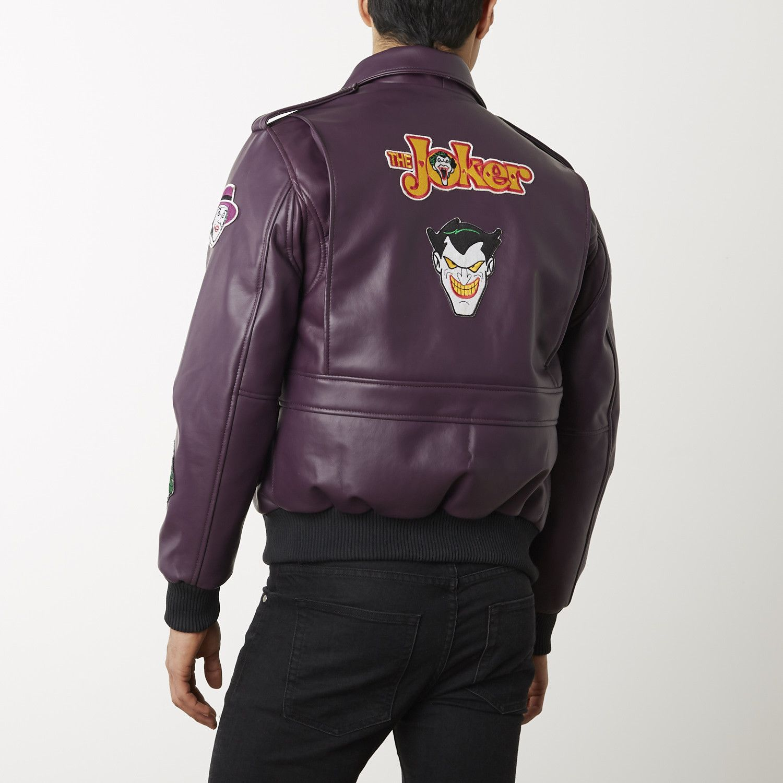 Joker Leather Bomber Jacket Purple Leather Bomber Jacket Jackets Leather Bomber [ 1500 x 1500 Pixel ]