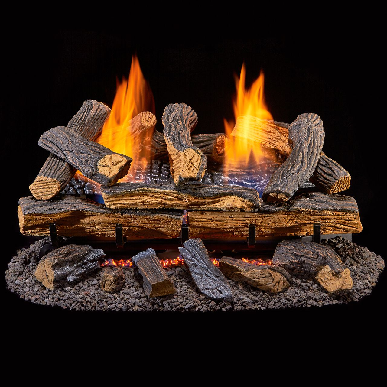 Duluth Forge Ventless Dual Fuel Gas Log Set 24 In Berkshire