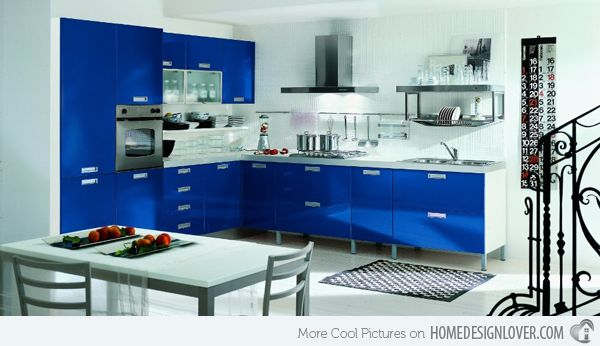 Light Blue Kitchen Color Schemes ~ 20 Modern Kitchen Color Schemes | Home Design Lover