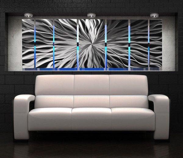 Metal Abstract Wall Art lighted metal wall art - led metal wall sculpture - color changing