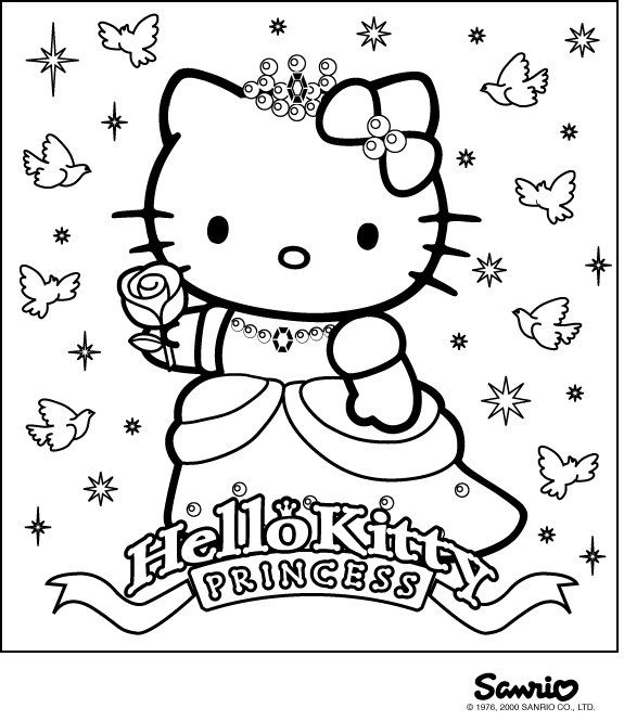 Pin by I T on Coloring - Hello Kitty Pinterest Kids colouring - new coloring pages with hello kitty