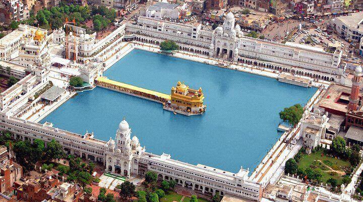 Golden Temple_A Bird's Eyeview | Golden temple, Temple india