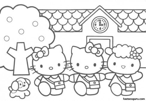 Free Hello Kitty Friends printabel coloring pages for girls ...