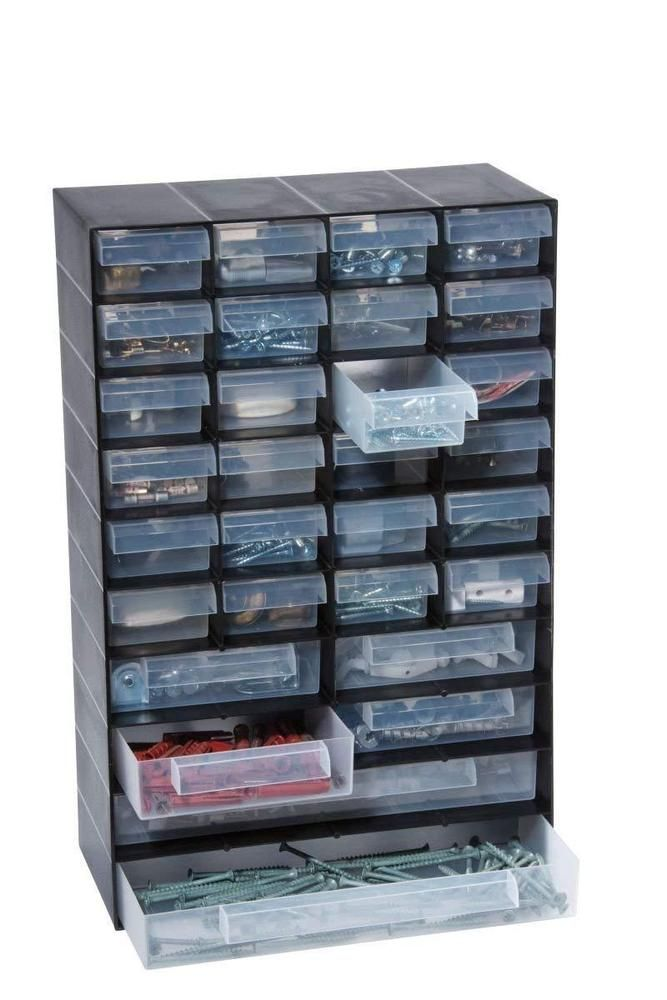 Details about Small Parts Storage Organiser 30 Drawers ...