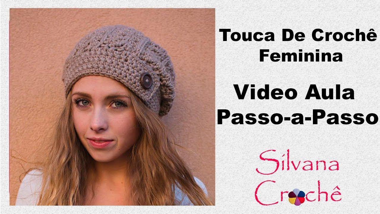 Touca Em Crochê Feminina Rústica Passo-a-Passo - YouTube  4d5b3db1135