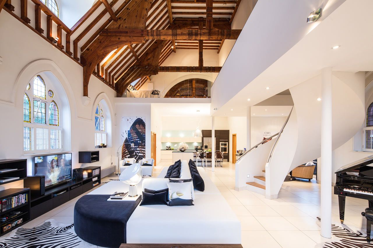 A victorian style church in london was converted by gianna camilotti interiors