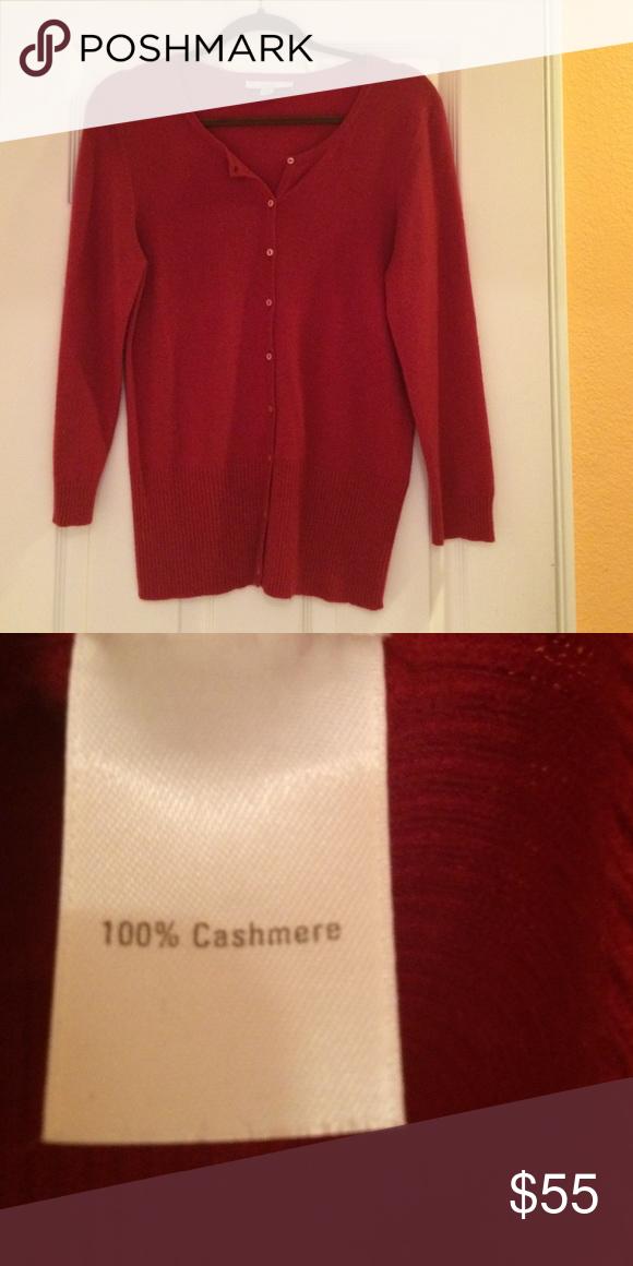 Brand new dark red cashmere sweater Brand new dark red Caslon 100 ...