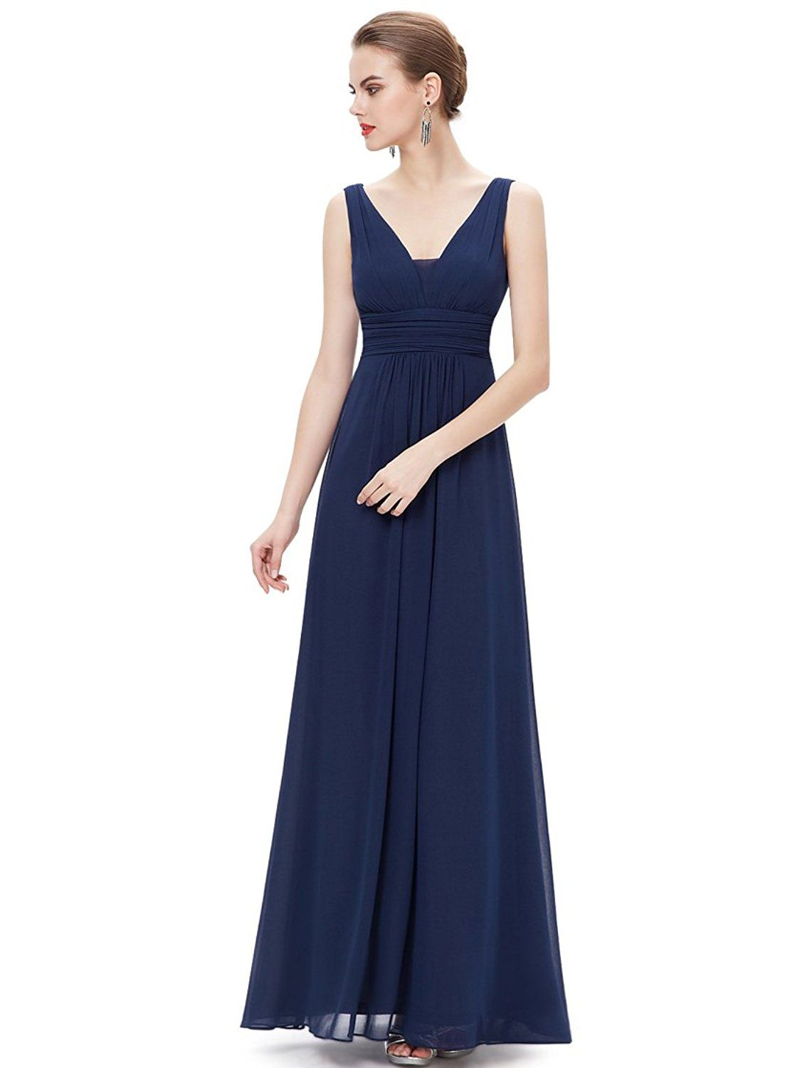 Ever pretty womens v neck empire waist semi formal maxi dress us