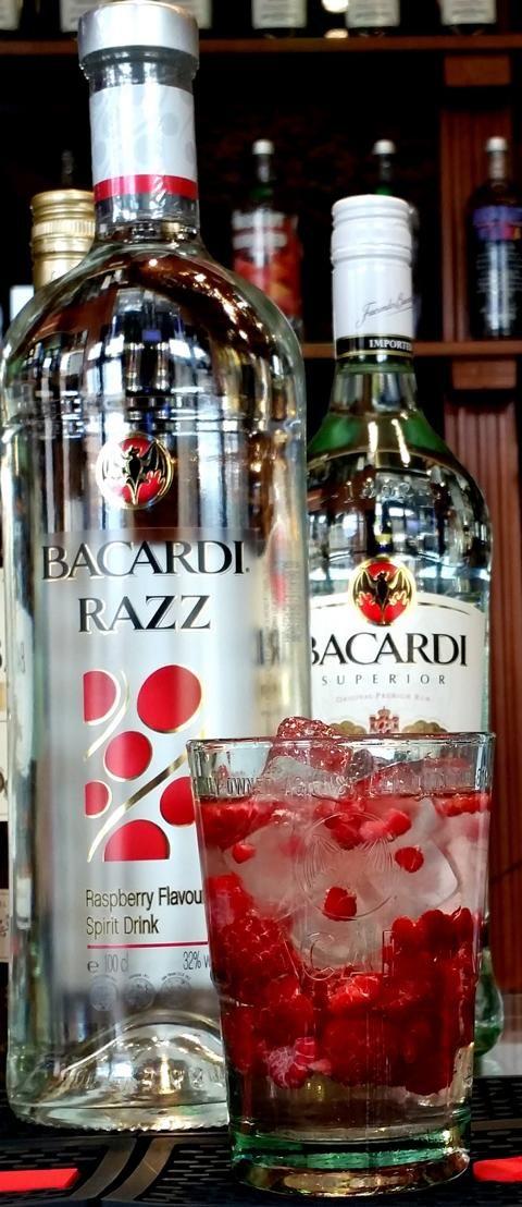 Bacardi razz mit sprite