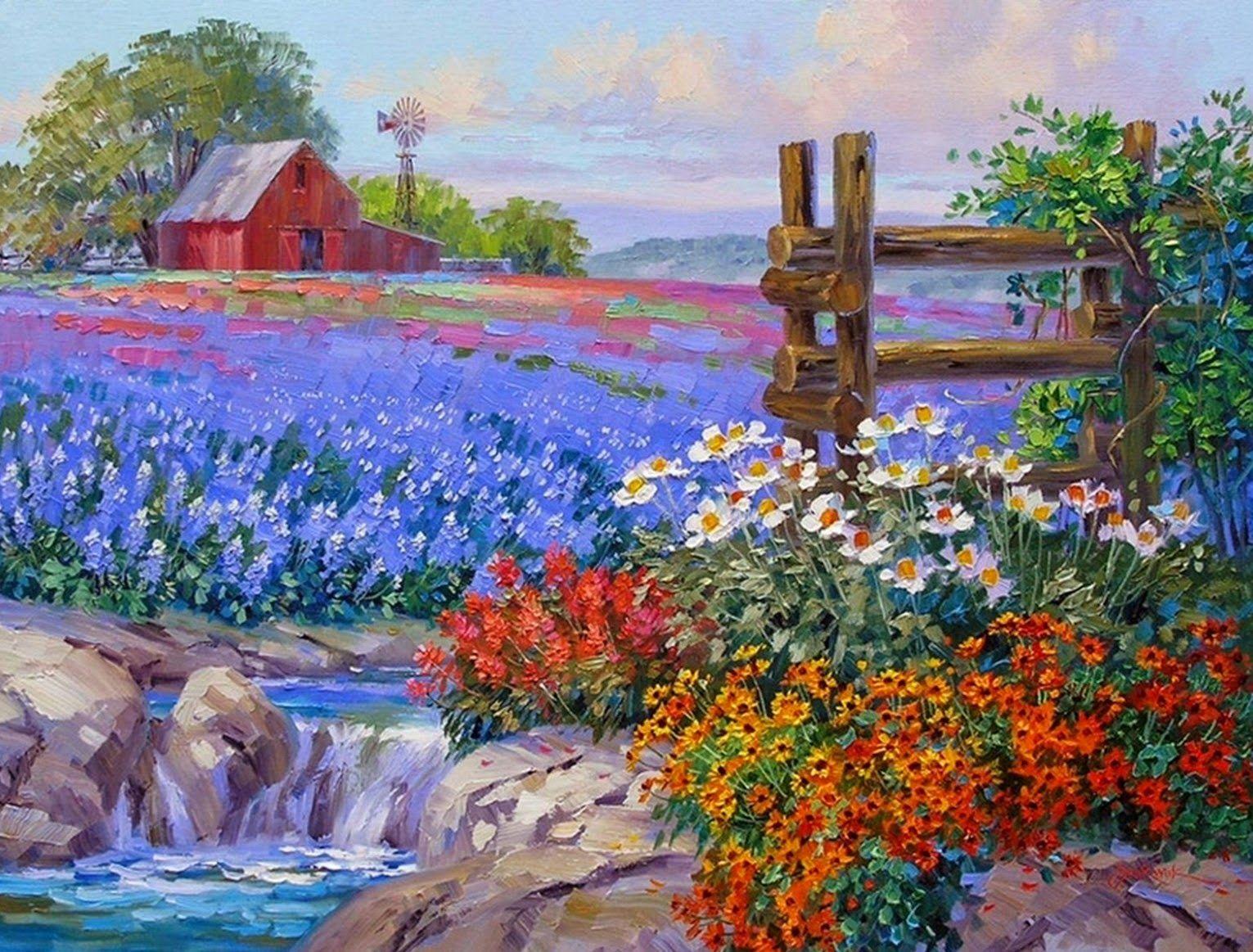 Pintura y Fotografía Artística : Flores Cuadros Óleo, Serie de ...