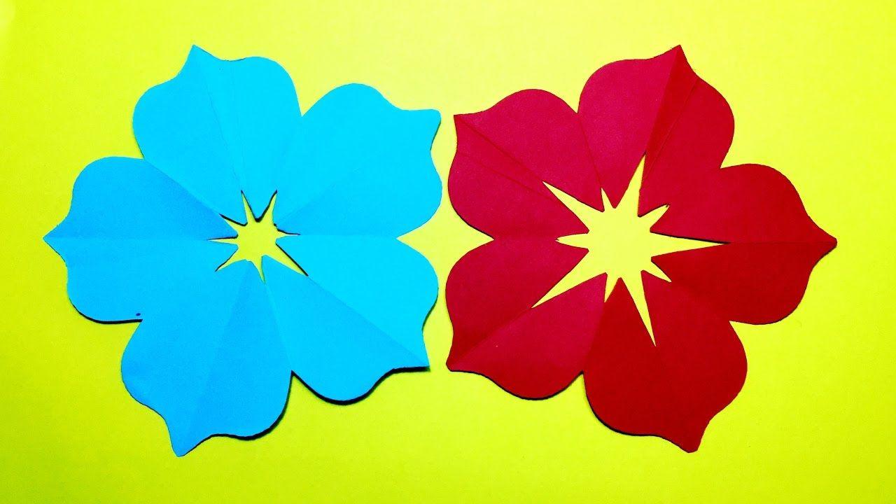 How to make 5 petal hand cut paper flowers - origami flower DIY | origa.