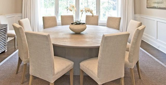 Here Round Dining Room Tables For 10, 10 Person Round Dining Table