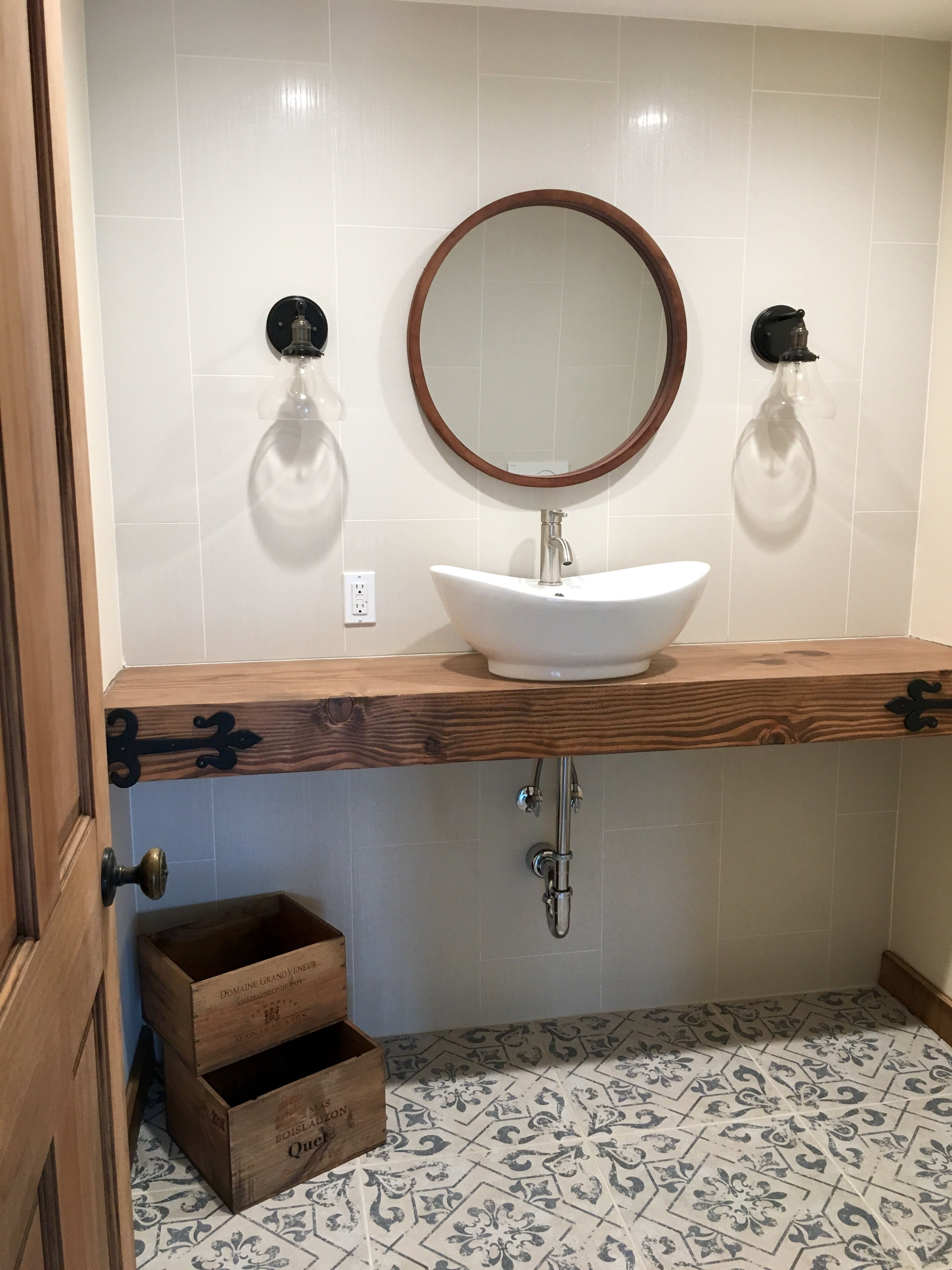 floating counter guest bathroom floating counter guest