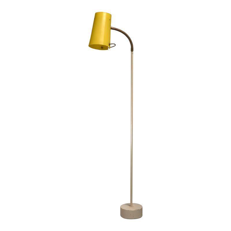 Scandinavian Modern Floor Lamp With Yellow Plexiglass Adjustable Shade 1950s Modern Floor Lamps Scandinavian Floor Lamps Floor Lamp