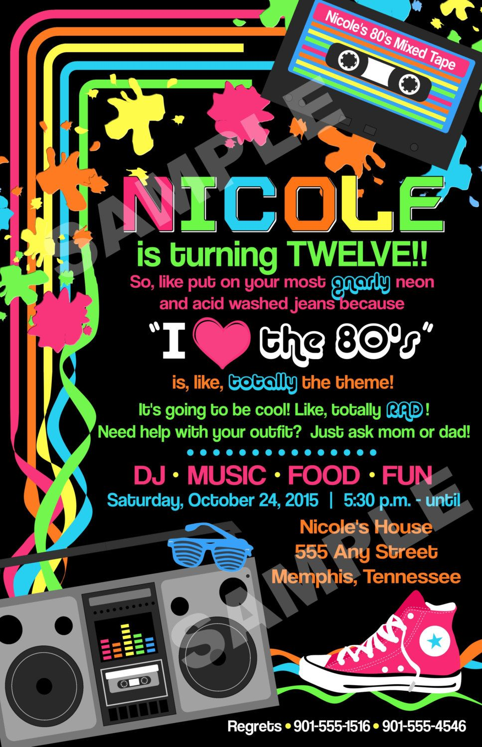 Eighties 80\'s I love the 80\'s Birthday Party | Party | Pinterest ...