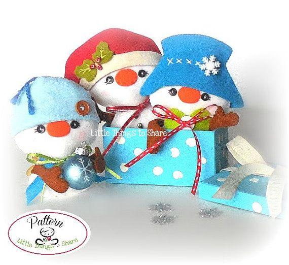 Mr. Hats-Snowman Ornament Pattern-Set of by LittleThingsToShare