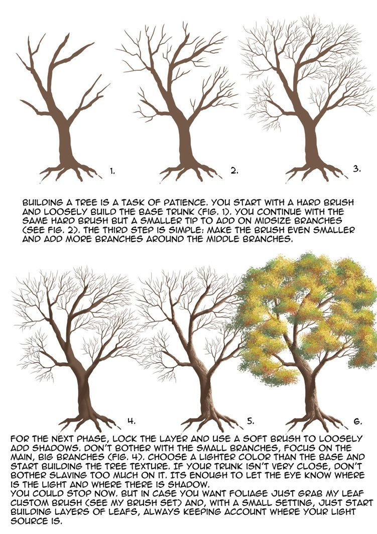 Tree tutorial by MatesLaurentiu on DeviantArt