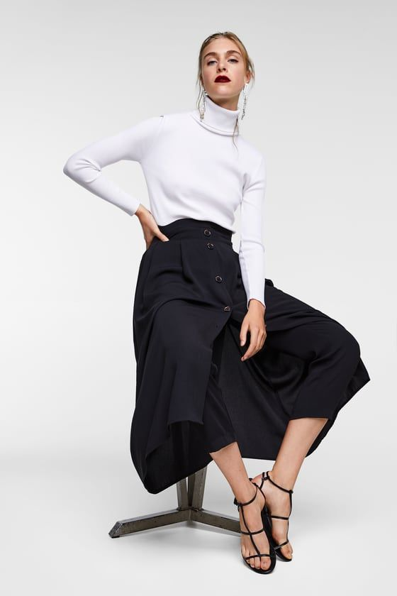 negozio online a2297 d80d4 Gonna pantalone con bottoni | ispirazioni | Gonne, Pantaloni ...