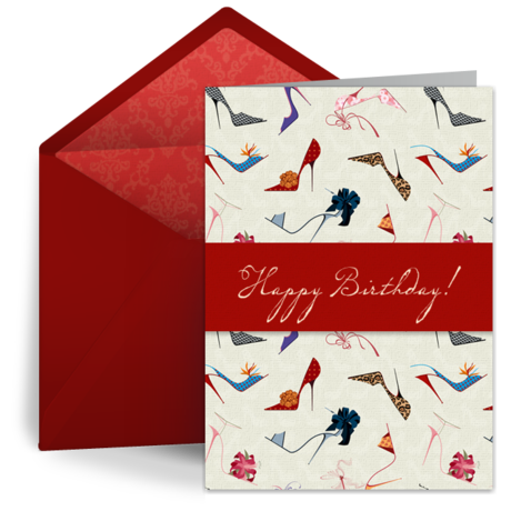 Stilettos Birthday Ecard From Punchbowl Cards And More