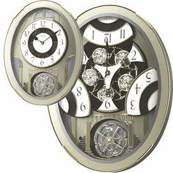 Rhythm Musical Wall Clocks Music Motion Small World Clocks The Musical Notes Seen On The Open Picture Are Revealed When The Clock Opens Up Reloj Reloj Tiempo