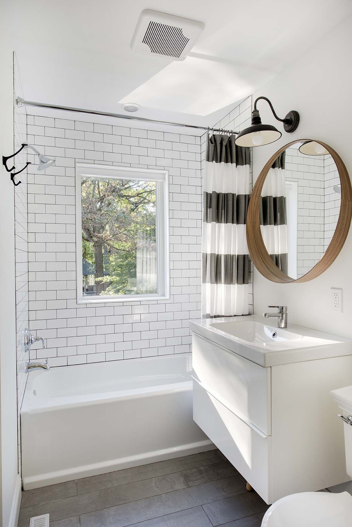 Urban Farmhouse In Minneapolis With Modern Industrial Details Home Depot Bathroom Small Bathroom Remodel Budget Bathroom Remodel