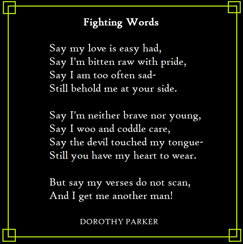 Resume Resume By Dorothy Parker dorothy parker fighting words quotes inspiration advice words
