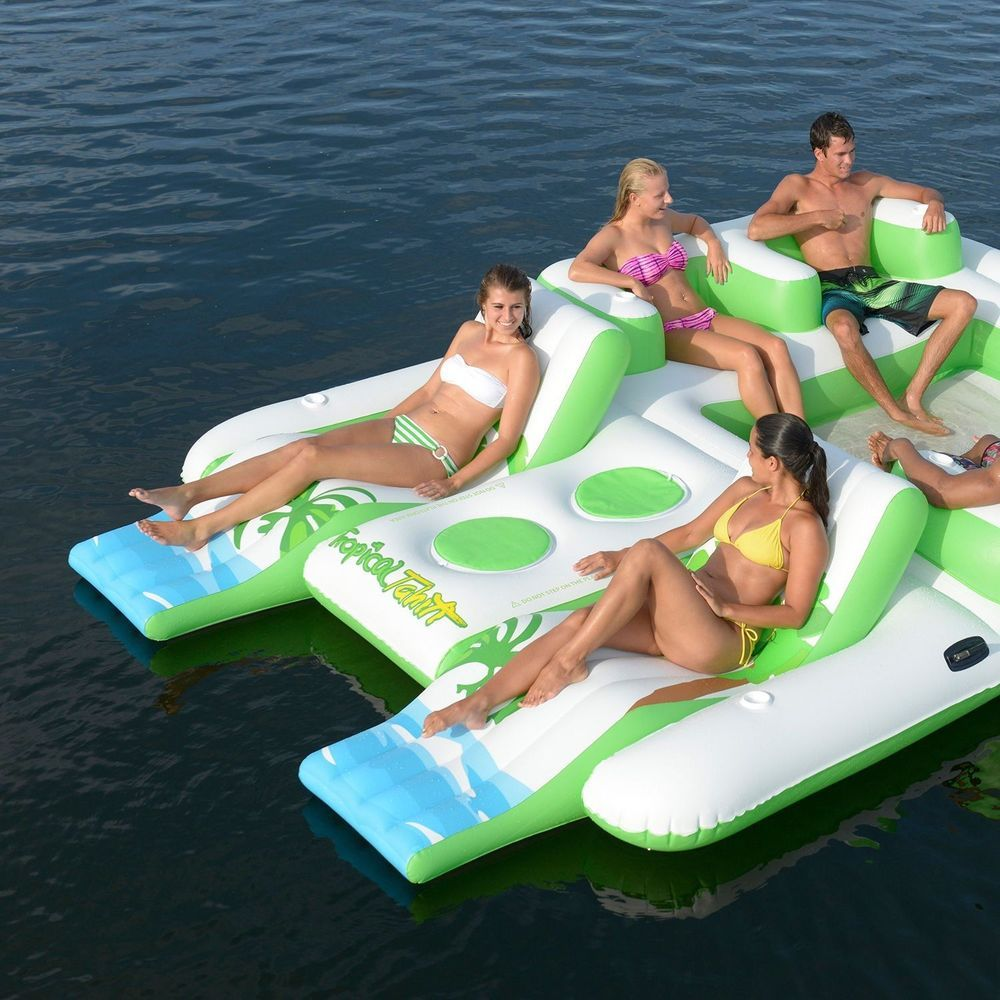 Details About 6 Person Raft Pool Lake River Swim