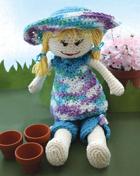 Sugar n Cream - Garden Lily Doll (crochet)  With removable accessories, Lily is ready to plant her spring garden!