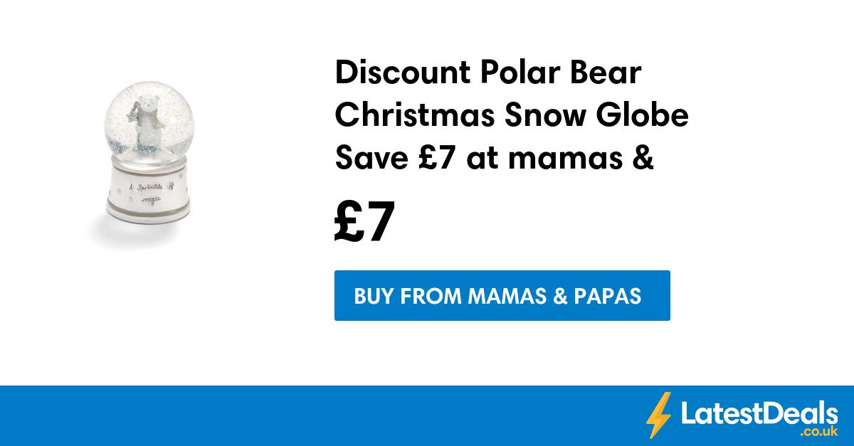 Discount Polar Bear Christmas Snow Globe Save £7 at mamas