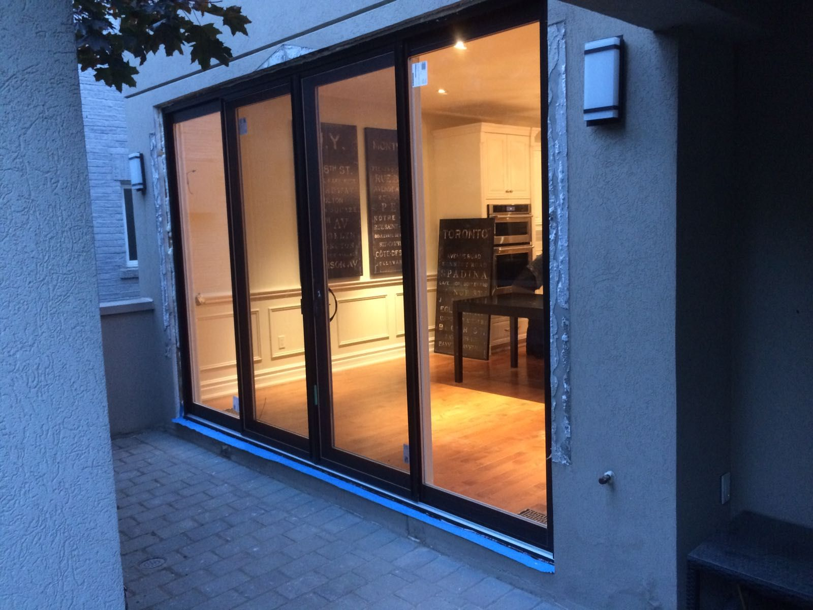 Modern exterior oversized sliding patio door by modern doors