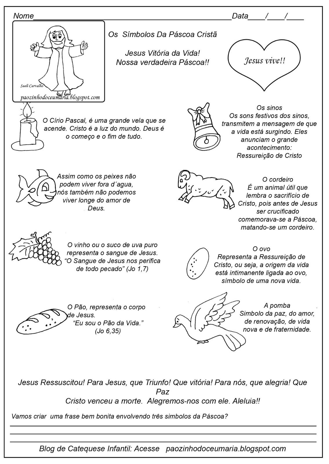 Os Simbolos Da Pascoa Catequese Com Imagens Simbolos Da