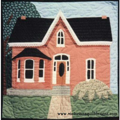 Victorian House Quilt Pattern ~ Included with this pattern are a few pointers on how to turn any picture you might want to make, into a pictorial quilt. http://www.victorianaquiltdesigns.com/VictorianaQuilters/PatternPage/VictorianHouse/VictorianHouse.htm #quilting #house
