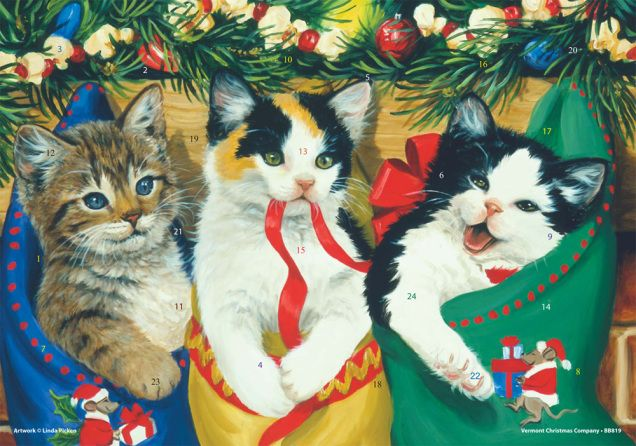 Kitties Advent Calendar Medium Fun Vermont Christmas Company Christmas Kitten Kitty Vermont Christmas Company