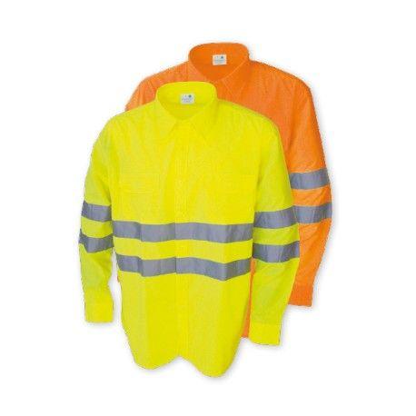 786ca389d1a Camisa Manga Larga Alta Visibilidad Referencia 1049 Marca: Chintex 2  bolsillos en pecho con tapeta