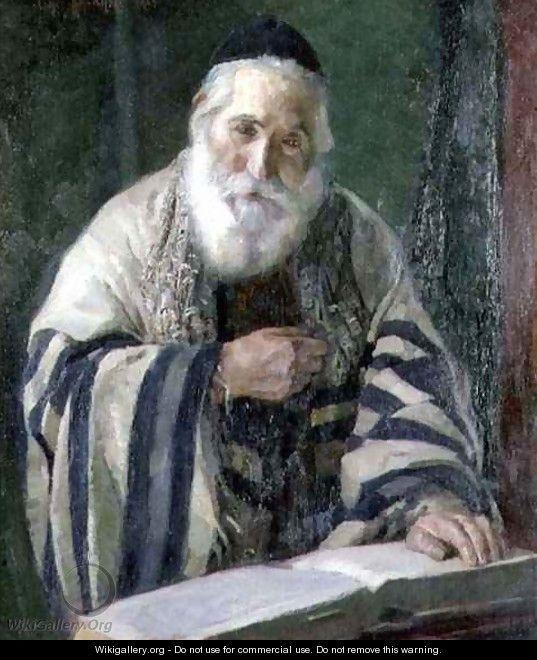RABBI READING TORAH TALLIS JEWISH JUDAICA *CANVAS* ART