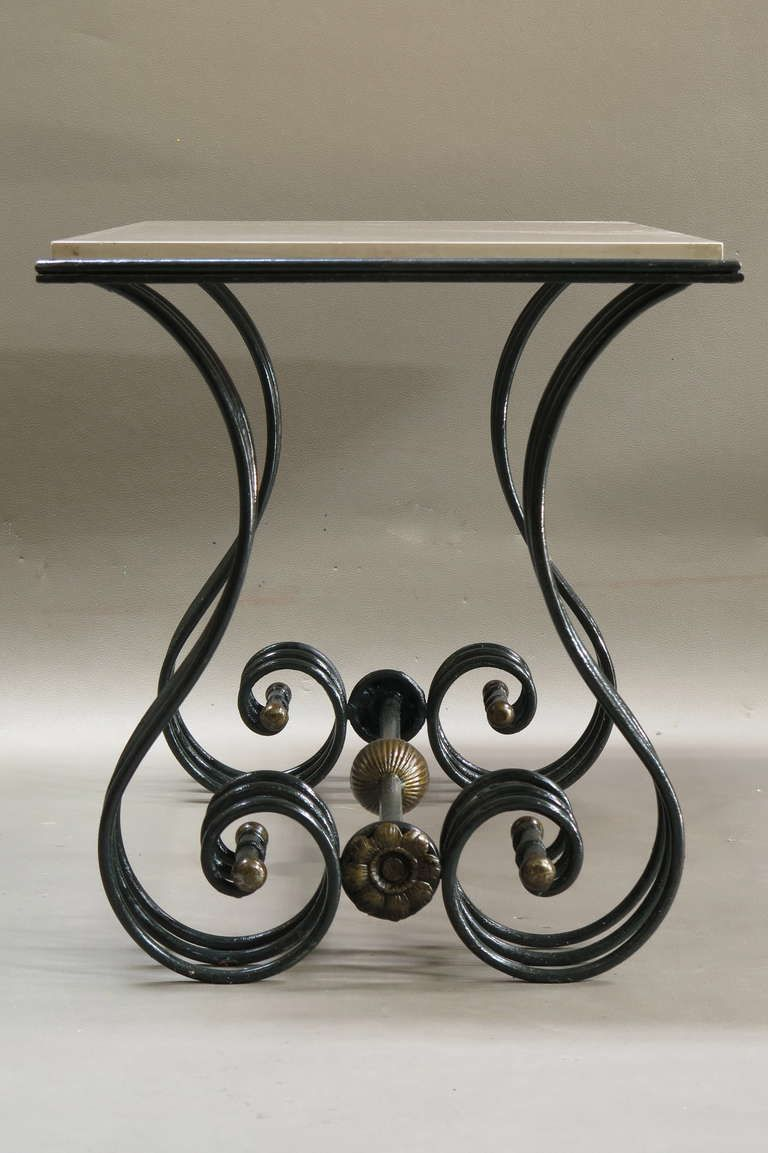 Comely Dining Room Design With Wrought Iron Dining Table : Contempo Square Black  Wrought Iron Dining