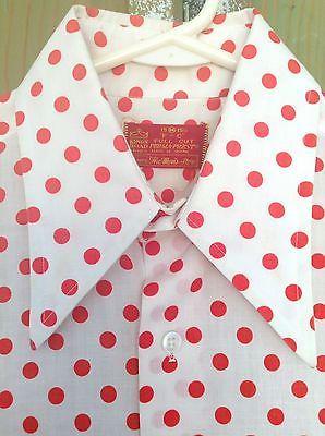 Kings Road Red Polka Dot Shirt Z6kty0i6