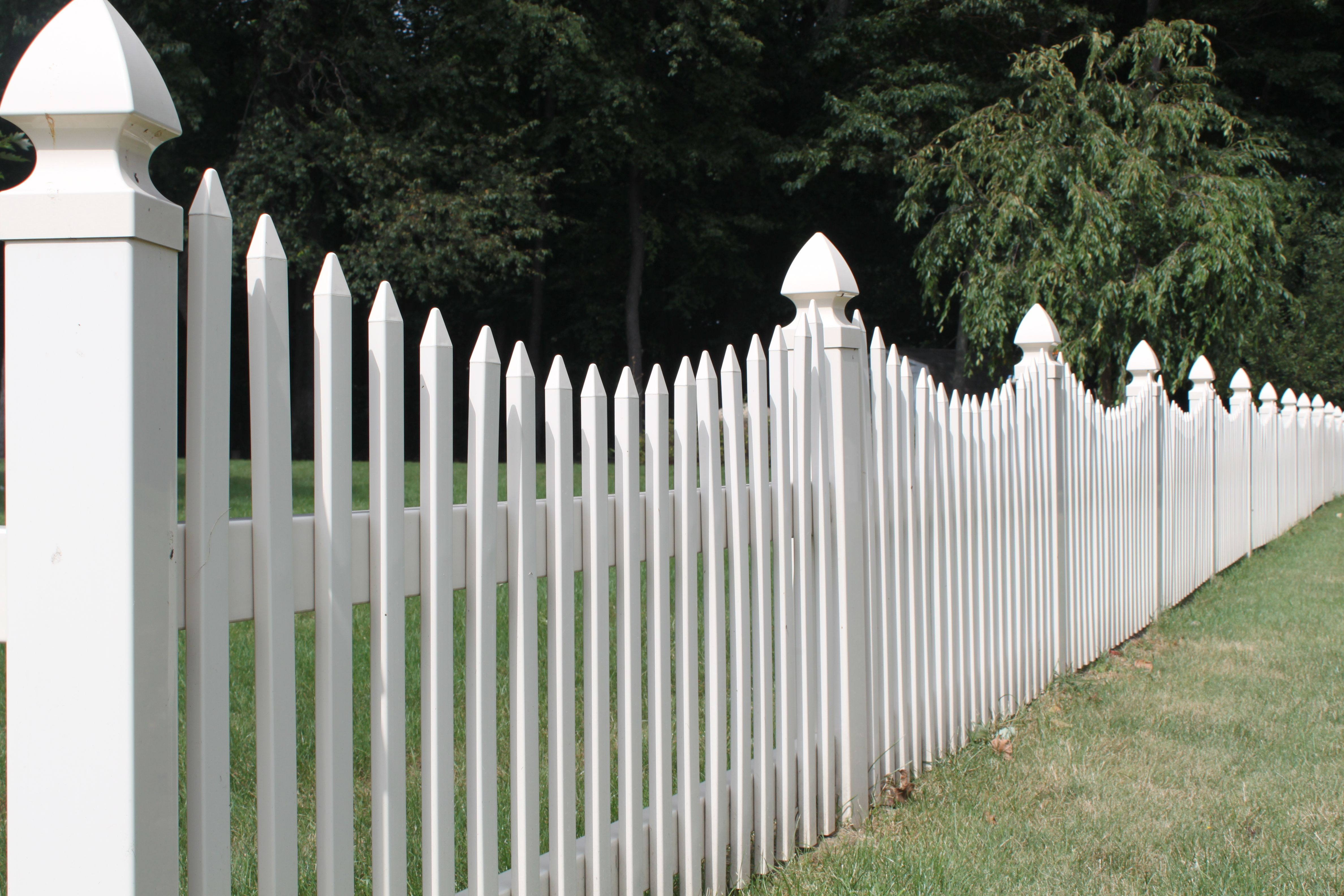 Cottage Picket Fence Scalloped Style Traditional Vinyl