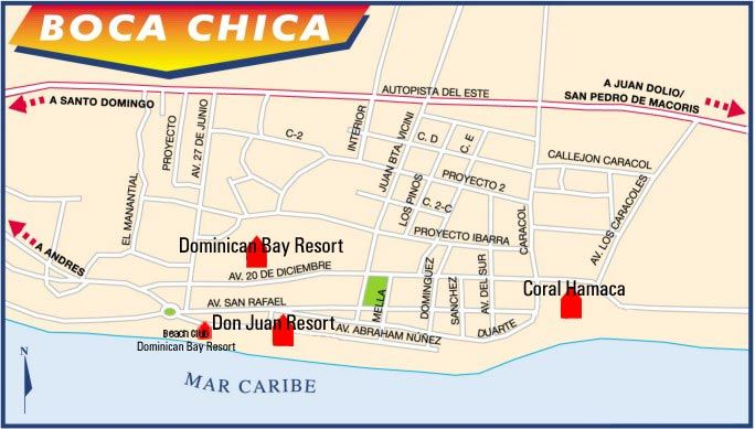 Dominican republic boca chica map Caribbean Pinterest Boca