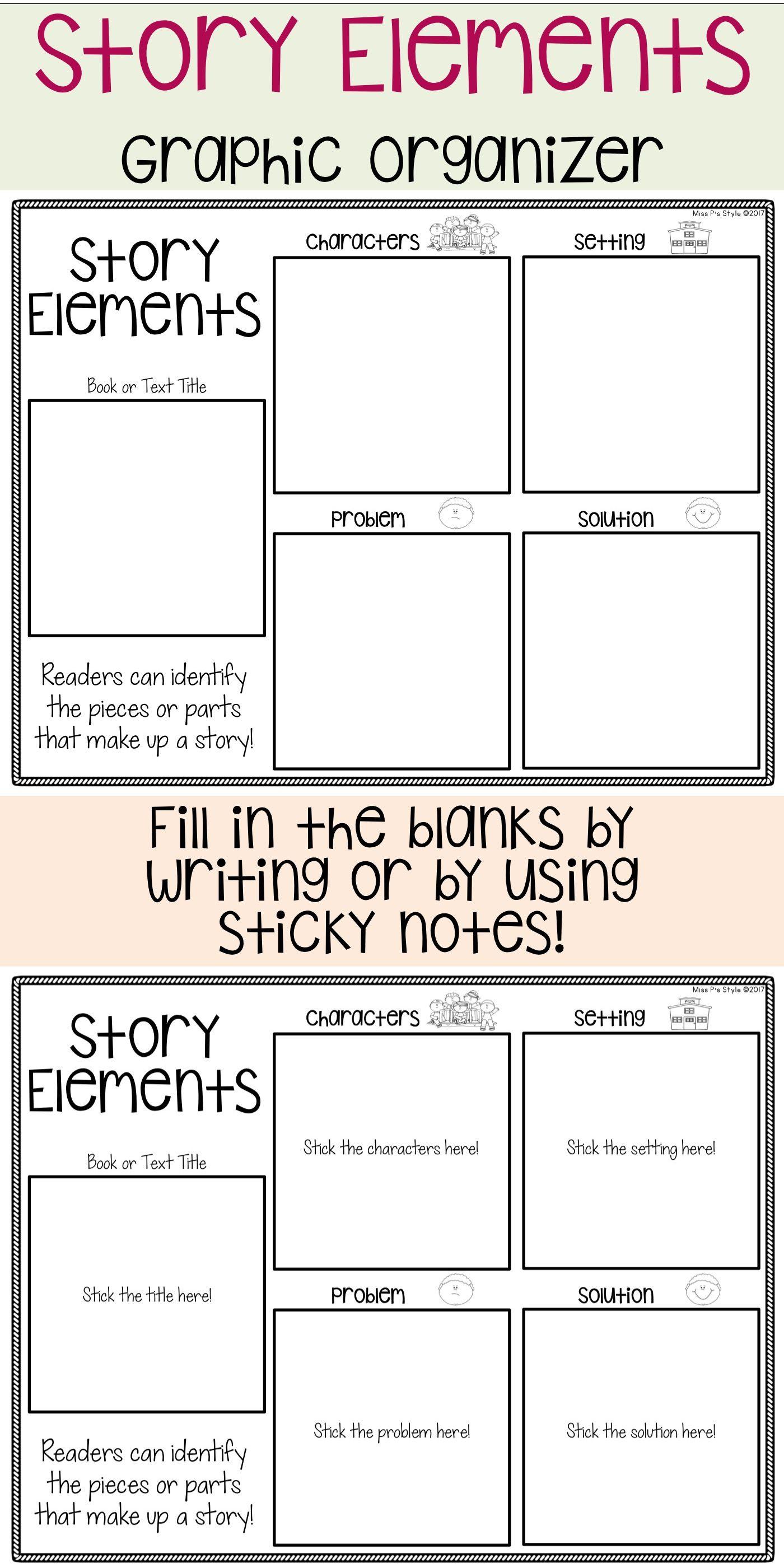 Story Elements Graphic Organizer Reading Graphic Organizers Graphic Organizers Comprehension Graphic Organizers